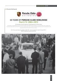 60 YEARS OF PORSCHE CLUBS WORLDWIDE Part 2 ⁄ 5: 1963–1972