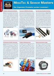 Messtec & sensor Masters Award 201