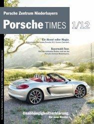 Unabhängigkeitserklärung. Porsche Zentrum Niederbayern