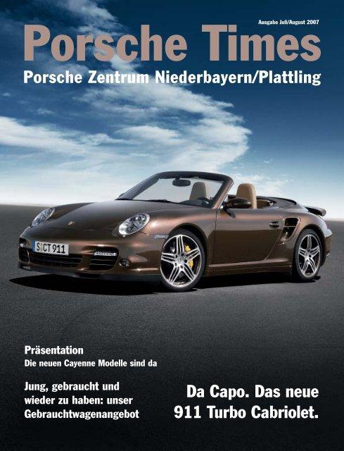 Da Capo. Das neue 911 Turbo Cabriolet. Porsche Zentrum ...