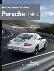 Klartext. - Porsche Zentrum Saarland