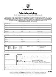 Download Bestellung Gutschein (PDF) - Porsche Zentrum Saarland