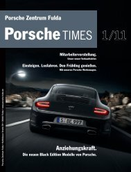 Die neuen Black Edition Modelle von Porsche.