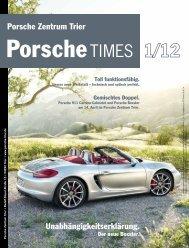 Unabhängigkeitserklärung. Porsche Zentrum Trier