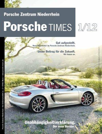 Unabhängigkeitserklärung. Porsche Zentrum Niederrhein