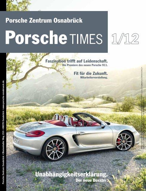 Unabhängigkeitserklärung. Porsche Zentrum Osnabrück