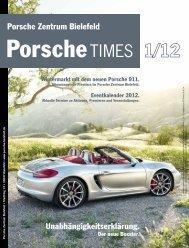 Unabhängigkeitserklärung. Porsche Zentrum Bielefeld