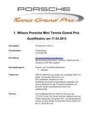 1. Wilson Porsche Mini Tennis Grand Prix Qualifikation am 17.03.2013