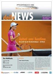 Jubel um Justine - Porsche Tennis Grand Prix