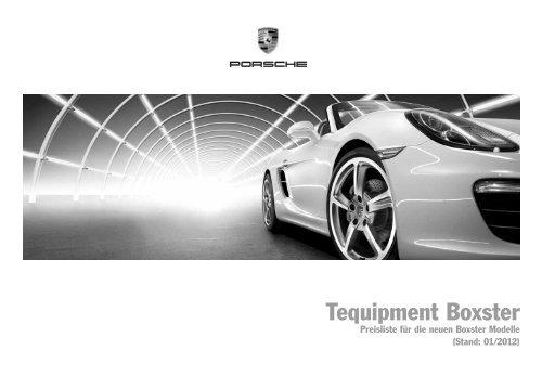 Tequipment-Preisliste (PDF) - Porsche