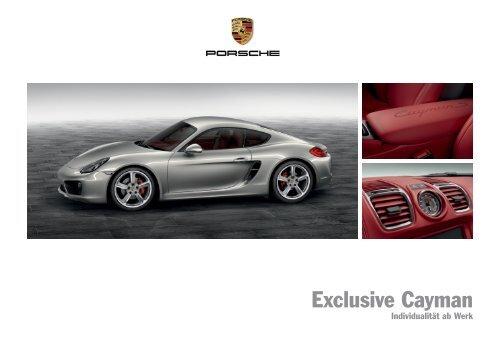 Exclusive Cayman (PDF) - Porsche