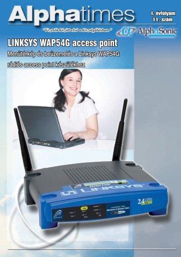 LINKSYS WAP54G access point - Alphasonic