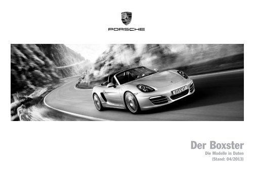 Der Boxster, Preisliste (PDF) - Porsche