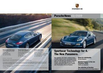 Sportscar Technology for 4. The New Panamera. - Porsche