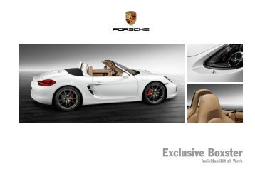 Exclusive Boxster (PDF) - Porsche