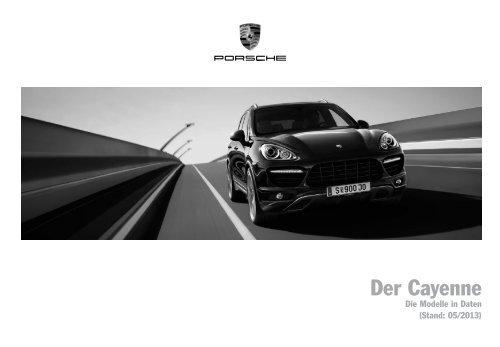 Der Cayenne, Preisliste (PDF) - Porsche