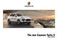 The new Cayenne Turbo S - Porsche