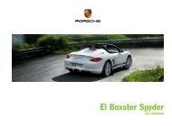El Boxster Spyder - Porsche