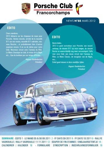 News 88 - Porsche Club Francorchamps