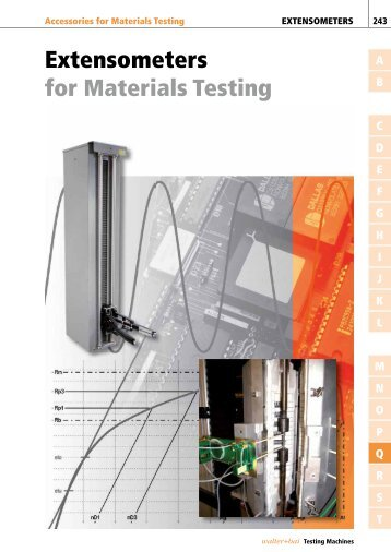 Extensometers for Materials Testing - Acutech