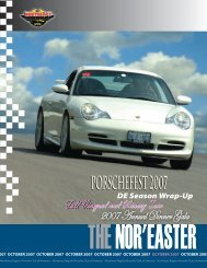 October 2007 - Porsche Club of America – Northeast Region