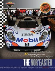 August 2009 - Porsche Club of America – Northeast Region