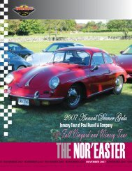 November 2007 - Porsche Club of America – Northeast Region