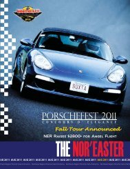 August 2011 - Porsche Club of America – Northeast Region