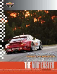 November - Porsche Club of America – Northeast Region