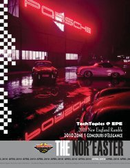 April - Porsche Club of America – Northeast Region