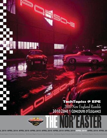 April - Porsche Club of America – Northeast Region