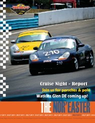 July 2011 - Porsche Club of America – Northeast Region