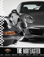April 2013 - Porsche Club of America – Northeast Region