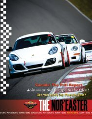 August 2012 - Porsche Club of America – Northeast Region