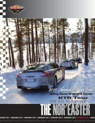 January 2011 - Porsche Club of America – Northeast Region