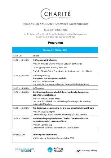 Programm - Porstmann Kongresse GmbH