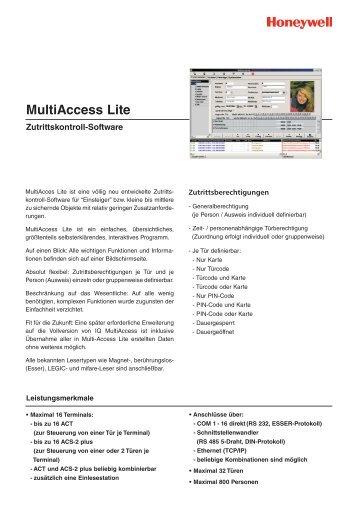 MultiAccess Lite - Heinz Port GmbH