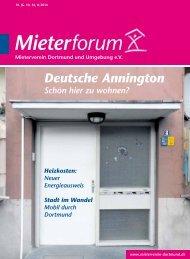 Mieterforum Dortmund - Ausgabe II/2014 (Nr. 36)