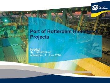 Port of Rotterdam Hinterland Projects - PORT-NET