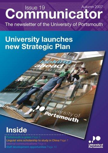 Communicator, Issue 19 - University of Portsmouth