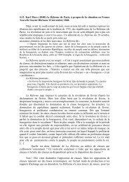 La Réforme de Paris, à propos de la situation en France Nouvelle