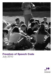 Freedom of Speech Code July 2010 - University of Portsmouth
