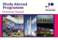 Study Abroad Programme - University of Portsmouth
