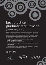 Best practice in graduate recruitment