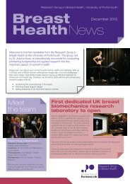 Breast Health News - University of Portsmouth