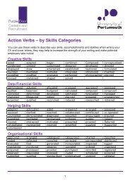 Action Verbs – by Skills Categ by Skills Categories