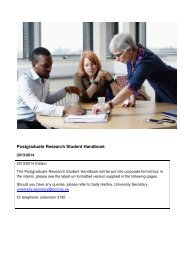 Research Student Handbook - University of Portsmouth