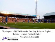 The Impact of UEFA Financial Fair Play Rules on English Premier ...