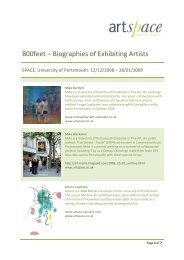 800feet – Biographies of Exhibiting Artists - University of Portsmouth