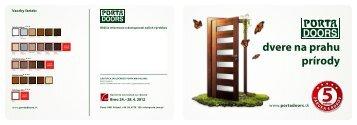 dvere na prahu prírody - PORTA Doors